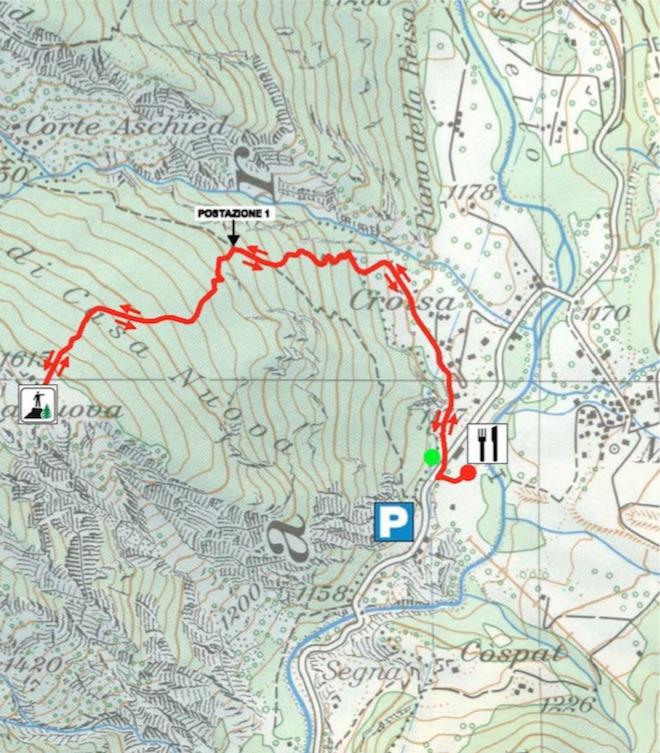 cartina percorso racchette 5
